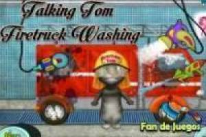 Juego Talking tom firetruck washing Gratis