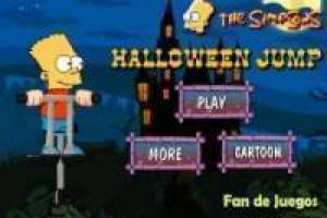 Free Bart simpsons jumping: halloween Game