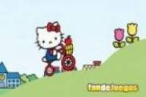 Hello kitty en bicicleta