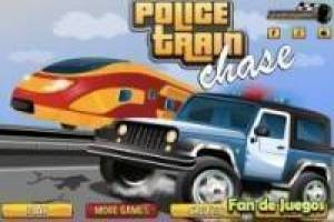 Free Police car vs train Game