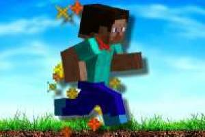 Running minecraft man