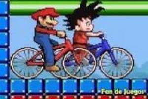 Goku vs mario: bicycles