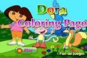 Coloring Dora the Explorer