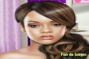 Rihanna kleden en make up
