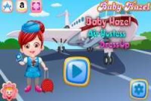 Baby Hazel as an international flight attendant