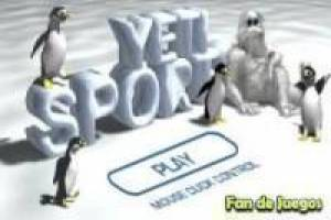 Juego Yeti sports pingu throw Gratis