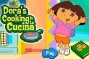 Dora the Explorer in the kitchen