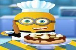Minions cooking bananas Cake