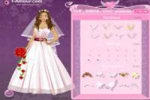 Dress up the happy bride for her wedding