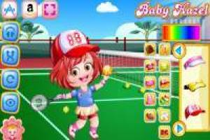 Baby Hazel pratique le tennis