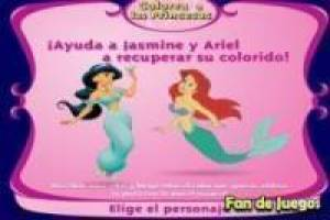 Colorea princesas clásicas de Disney