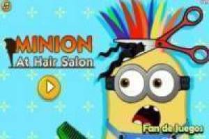 Minion at the hairdresser