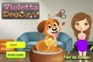 Violetta cares puppies
