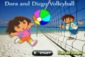 Free Dora and Diego: Volleyball Game
