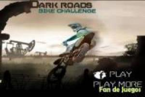 Dark roads on a motorcycle