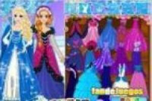 Dressing princesses frozen
