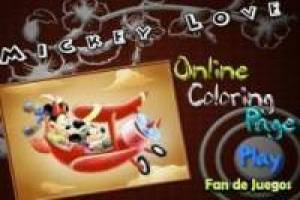 Mickey y minnie colores
