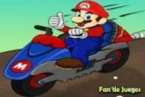 Motorcycle racing with Mario, Sonic and scooby doo