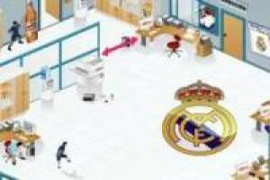 Football in the Real Madrid office