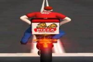 Motor Bike Pizza Delivery