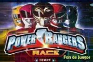 Power rangers: Carreras de motos