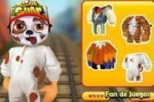 Subway surfers face painted