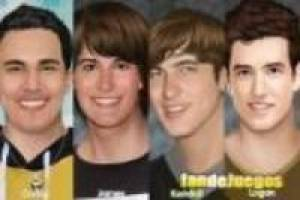 Big time rush, maquillar
