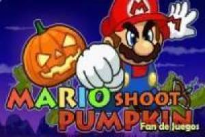 Mario shoot pumpkins