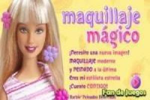 Barbie make-up magic