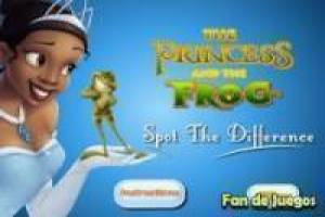 The princess and the frog: Find the differences