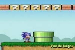 Sonic lost in mario world