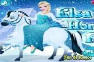 Frozen Elsa on horseback