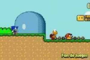 Gioco Sonic in Mario World 2 Gratuito