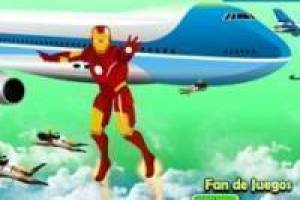 Iron man protects the plane