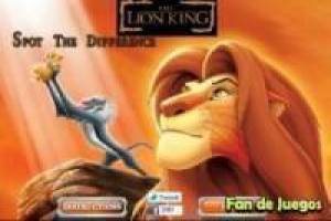Six difgerencias looking lion king