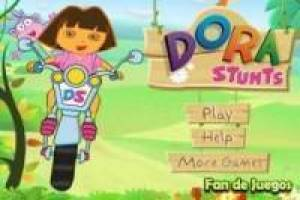 Dora the Explorer: picking flowers on a motorcycle