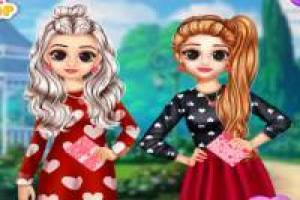 Elsa and Anna: Valentine' s Day Preparations
