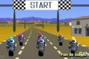 Motorcycle racing on the road