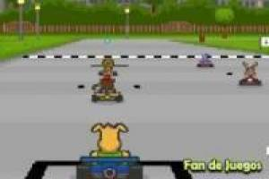 Tierrennen in Go-Karts