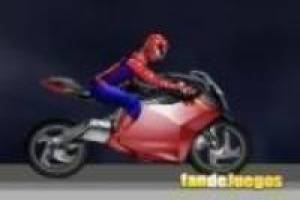 Spiderman vs batman: Motorcycle racing