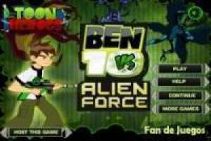 Juego Ben 10 vs alien force Gratis