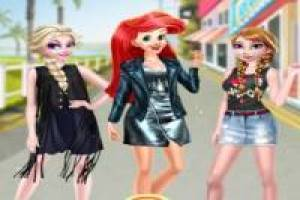 Elsa, Anna and Ariel: Street Fashion