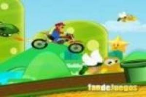 Mario on a motorcycle: Escape from the dragon