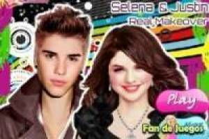 Free Make up Selena and Justin real Game
