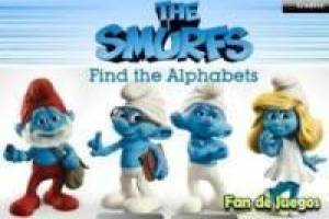 Os Smurfs, encontrar as letras escondidas