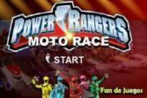 Power rangers en moto scooter