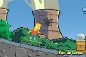 Bart simpson on skateboard 2