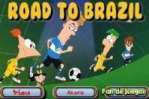 Juego Phineas and ferb road to brazil Gratis