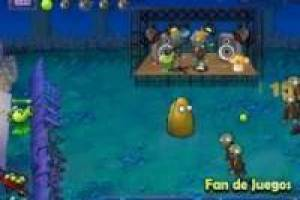 Plants vs zombies en la noche