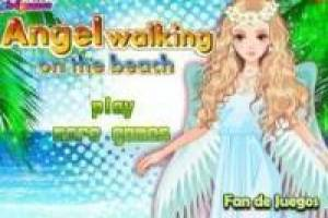 Free An angel dress on the beach Game